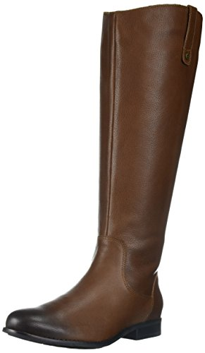 206 Collective Women's Whidbey Wide Calf Riding Boot, Cognac, 9 C/D (Metallic Leather Knee Boot)