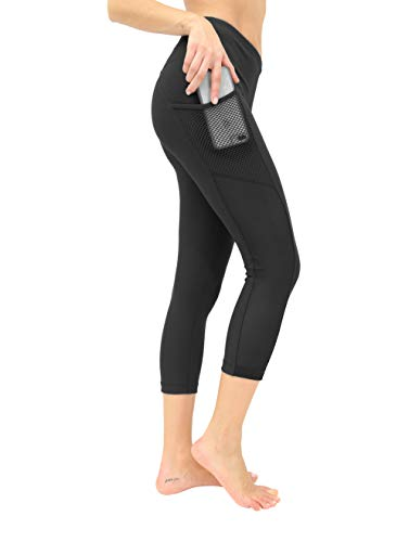 90 Degree By Reflex Women's High Waist Athletic Leggings with Smartphone Pocket - Blk/Blk - Large