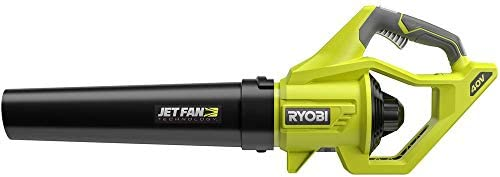 Ryobi RY40406BTL 40 Volt 110 MPH 500 CFM Cordless Jet Fan Leaf Blower 40V. Bare Tool Battery and Charger NOT Included