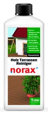 Limpiador Norax para terrazas de madera, 1 litro, elimina la suciedad más resistente,