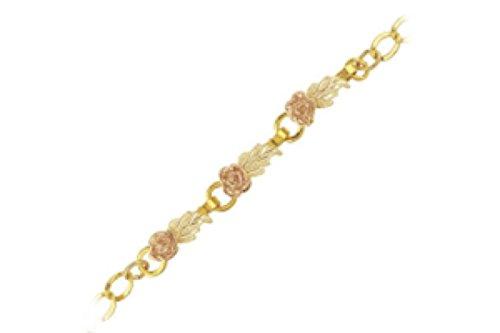 Black Hills Gold Black Bracelet - Black Hills Gold Rose Bracelet