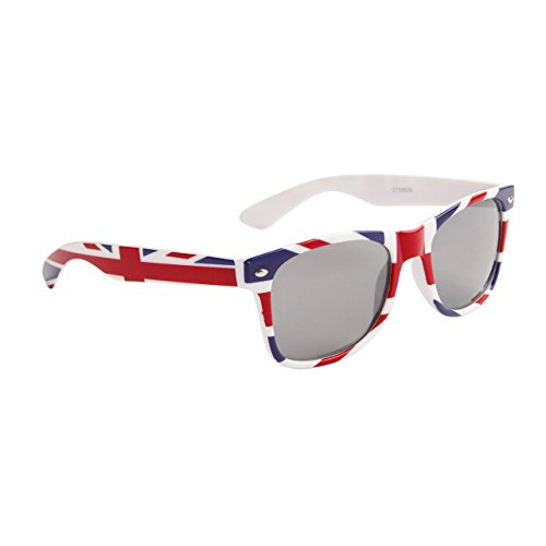 Mens 80s Style (British Flag Classic 80s Wayfarer Style Sunglasses)