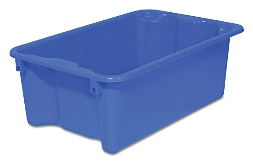 Stack and Nest Container, Blue, 22 lb.
