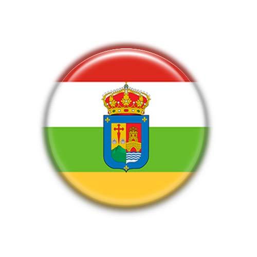 La Rioja : Bandera Comunidad Autonoma Española, Pinback Button Badge 1.50 Inch (38mm)
