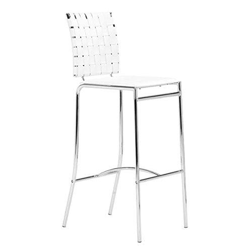Zuo Criss Cross Barstool, White (Set of (Criss Cross Counter Chair)