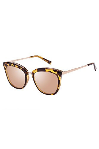 Le Specs Women's Caliente Sunglasses, Syrup Tort/Copper Revo, One - Specs Le Sunglasses Mirrored