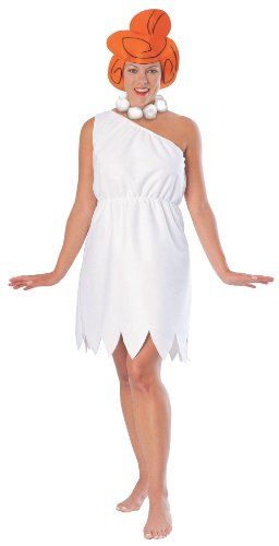 Tv Star Fancy Dress Costumes (The Flintstones Wilma Flintstone Costume, White, Standard)