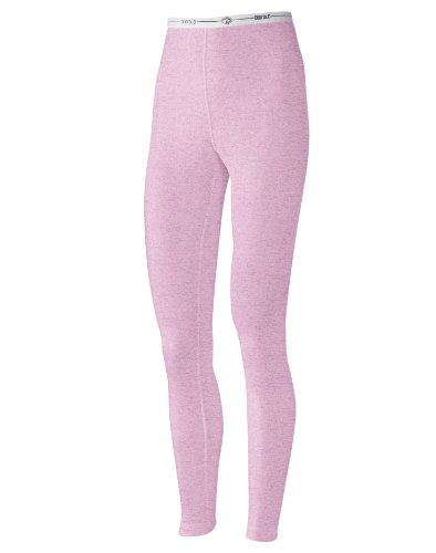 Duofold Women's Mid Weight Double Layer Thermal Leggings, Berry Pink Heather, Large (Bi Jacket Layer)