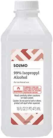 Amazon Brand - Solimo 99% Isopropyl Alcohol First Aid Antiseptic For Technical Use,16 Fluid Ounces
