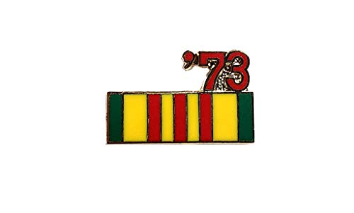 (Vietnam Veteran 1973 Ribbon Lapel Hat Pin Marines Army Navy Air Force PPM801)
