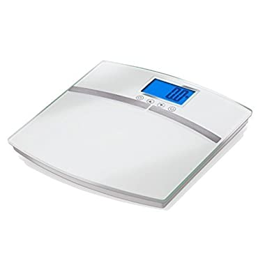 EatSmart Precision Body Fat Scale Bathroom Scale w/ 400 lb. Capacity, BMI and Step Off Technology