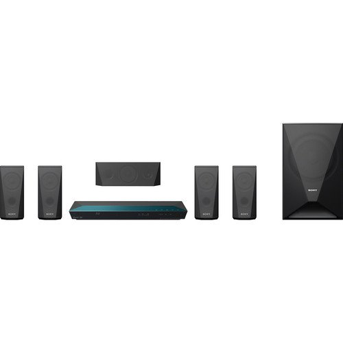 Sony 5.1 Channel Blu-ray Home Theater System with Bluetooth (Set of Six, Black) by Sony
