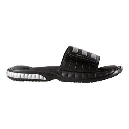 adidas Men's Superstar 3G Slide Sandal,Black/Silver/Grey,10 M US (Adidas Slide Slipper)