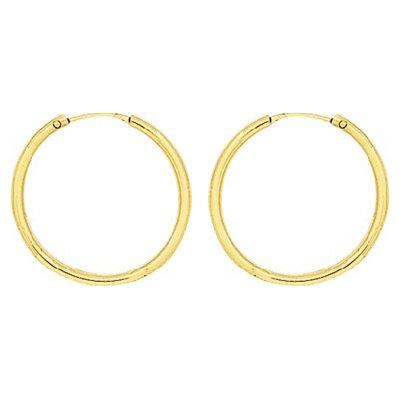 So Chic Bijoux © Boucles d'oreilles Femme Créoles Diamètre 20 mm Fil Rond 1,6 mm Or Jaune 750/000 (18 carats)