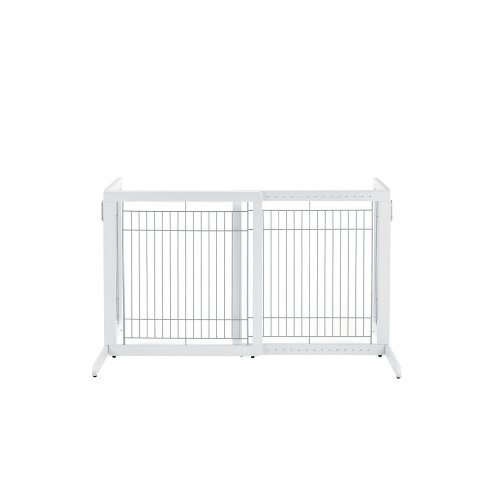 Richell High Freestanding Pet Gate, Standard, Origami White