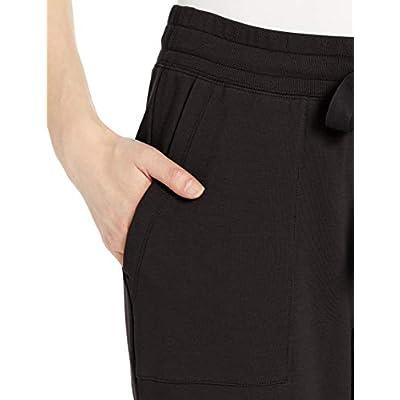 Brand - Terry Cotton & Modal Quarter-Zip Sweatshirt and Crop Jogger Set: Clothing