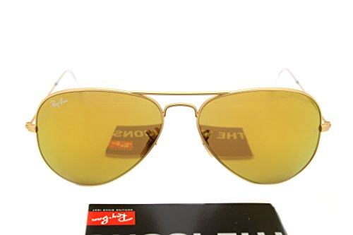 New RAY BAN Sunglasses Authentic RB 3025 112/93 Brown Mirror Gold Lenses AVIATOR 58mm