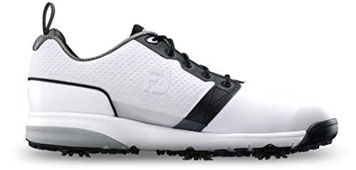FootJoy Men's ContourFIT-Previous Season Style Golf Shoes White 11 W Black, US