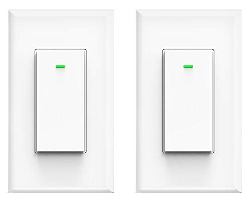 Smart light switch, Compatible with Amazon Alexa Echo, Works with Google Home No Hub Required, Smart home WiFi Wireless Fit for 2/3/4 Gang Switch Box, Neutral Wire Need Micmi (Smart Wifi Switch 2pack)