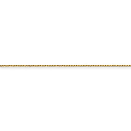 ICE CARATS 14k Yellow Gold .8mm Baby Spiga Link Wheat Chain Necklace 18 Inch Fine Jewelry Gift Set For Women Heart by ICE CARATS (Image #6)