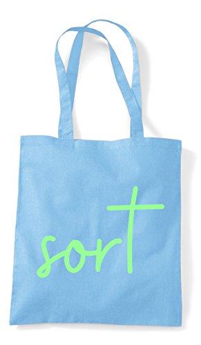 Quote Sky Statement Sort Blue Tote Bag Hashtag Shopper S7FxPqH