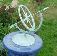Armillary Garden Sundial Amazoncouk Garden Outdoors
