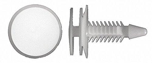 Ribbed Push In Rivet, Nylon, 6mm Dia, 24mm L, 6mm, White