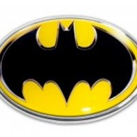 Elektroplate Batman Oval (Color) Chrome Auto Emblem by Elektroplate