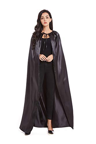 Crizcape Adult Halloween Costumes Cape Cloak Knight Witches Vampires Cosplay(M,Black) -