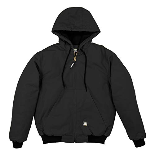 - Berne Men's Big-Tall Original Hooded Jacket, Black, 6X-Large/Regular