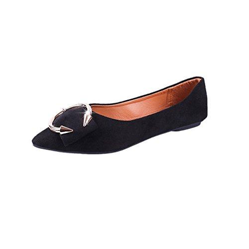 Donyyyy Scarpe Casual, primavera, estate, unico di di di scarpe, a fondo piatto, appuntita, profilo basso, scarpe casual,Black,trentasette Thirty-six d08143
