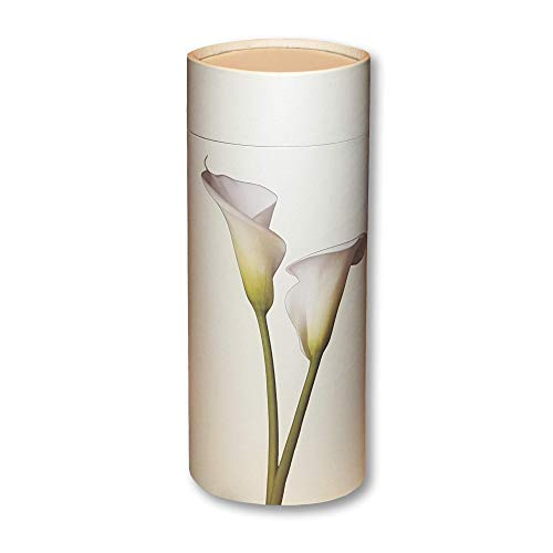 Lily Urn - Silverlight Urns Scattering Tube Biodegradable Urn for Ashes (Large, Lily)