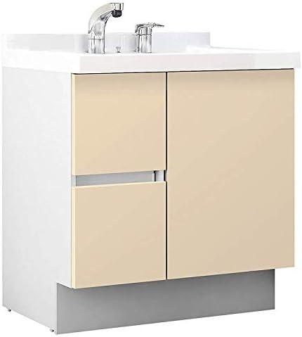 イナックス(INAX) 洗面化粧台 J1プラスシリーズ 幅75cm 片引出タイプ シングルレバーシャワー水栓 J1HT755SYNYL2H 寒冷地用 シカモアベージュ(YL2H)
