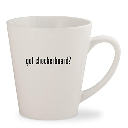 got checkerboard? - White 12oz Ceramic Latte Mug Cup