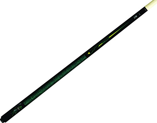 Mcdermott Pool Billiard Stick Cue (McDermott Lucky L65 Leprechaun Grapic Green Yellow on Black Pool/Billiard Cue)