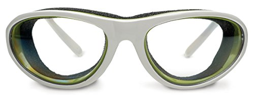 RSVP International (TEAR-W) White Onion Goggles, 6' | Safely Prepare Foods Without Tears | Remove Smoke, Steam, Vegetable Irritations | Fog-Free Lenses for Cooking, Skiing, Biking, & Dry Eye