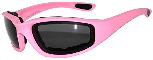 Motorcycle Padded Foam Glasses Smoke Lens - Motorcycle Sunglasses Womens Riding