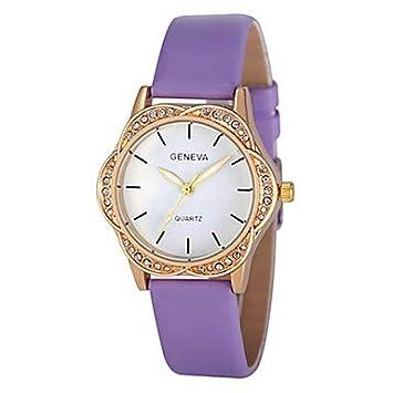 XKC-watches Relojes de Mujer, Mujer Reloj de Pulsera Cuarzo Cronógrafo Bonito diseño Piel