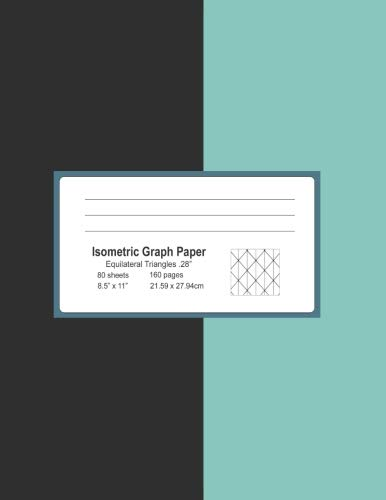 Isometric Graph Paper Isometric Drawing Paper Notebook Isometric