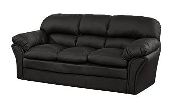 3 Seat Rutland Modern Range Very Soft Leather Sofa Black Brown Or Putty  Settee