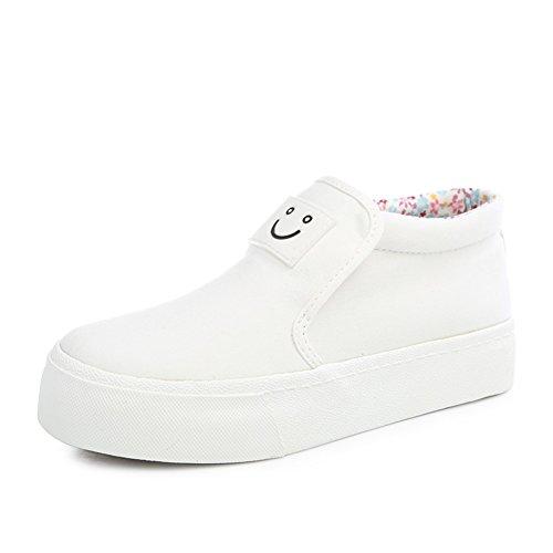 Sonrisa sólido pedal perezoso Lok Fu zapatos de verano/Zapatos de lona moda casual clásico A