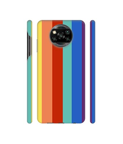 Casotec Rainbow Colors Design 3D Printed Hard Back Case Cover for Mi Poco X3 2021 July 3D Printed Hard Back Case Cover for Mi Poco X3 Custom Design, Access to all ports and functions. Durable, Stylish & Lightweight.