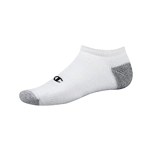 Champion Double Dry Performance No-Show Socks Extended Sizes (CH608P) White, 12-14 ()