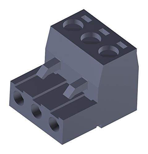 39520-0003 - Pluggable Terminal Block, Eurostyle, 5 mm, 3 Positions, 26 AWG, 12 AWG, 3.31 mm², Screw, (Pack of 20)