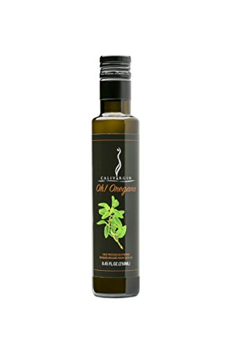 Calivirgin Oh! Oregano Flavor-Crushed Olive Oil - 100% Natural Fresh Flavor, No Additives or Preservatives - Organically and Sustainably Grown in California (8.45 Fl.Oz. / 250ML) (Oil Oregano Olive)
