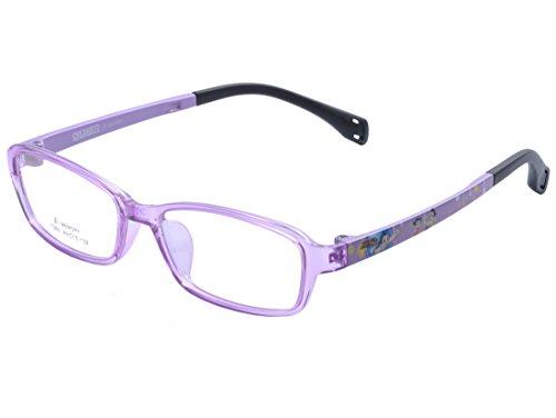 DEDING Kinder Acetate optische Brillenfassung mit Federscharnier DD1397 (Violett)