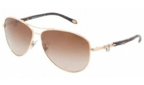 Tiffany Sunglasses TIF 3034 HAVANA 6002/3B - Aviator Tiffany Sunglasses Gold