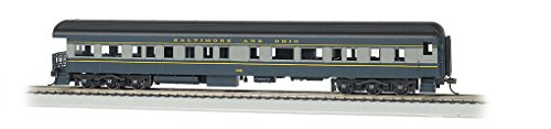 Bachmann Industries B&O #901 Ho Scale 72' Heavyweight Observation Car with Lighted Interior