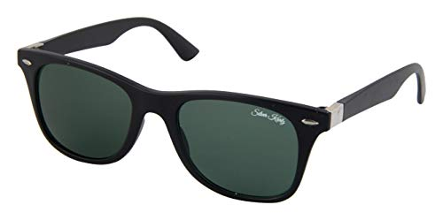Silver Kartz Classic G-15 Metal Side Wayfarer for Men and Women Sunglasses (wb069, Green)