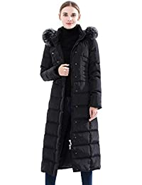 Womens Hooded Thickened Long Down Jacket Maxi Down Parka Puffer Coat